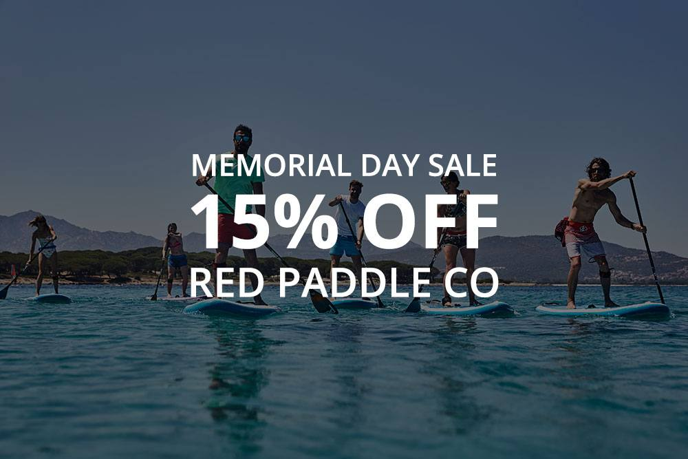 Memorial Day SALE – 15% off Red Paddle Co inflatable paddle boards